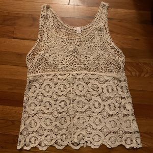 Xhilaration Crochet Tank